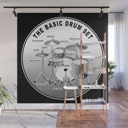 The Basic Drum Set Wall Mural