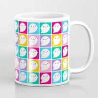 Colourful Little Ghosts Mug