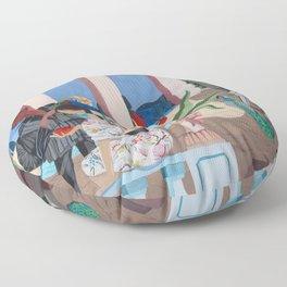 Midnight Rendezvous Floor Pillow