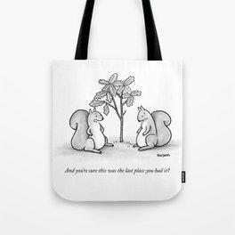 Forgetful Squirrel Tote Bag