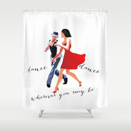Swing Dance Shower Curtain