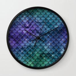 Mermaid Glitter Wall Clock