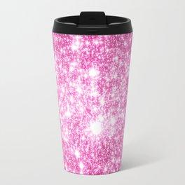 Galaxy Sparkle Stars Orchid Pink Travel Mug