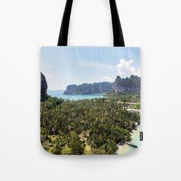 Railay Bay - Rai Leh Beach, Krabi Thailand  -  Tropical Paradise Tote Bag
