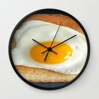 breakfast Wall Clocks featuring Breakfast by Asano Kitamura