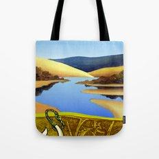 Water Meets Sand: Te Paki Stream Tote Bag
