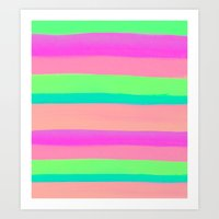 rave Art Prints featuring SUMMER'S RAVE by Rebecca Allen