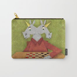 Two Headed Unicorn Carry-All Pouch