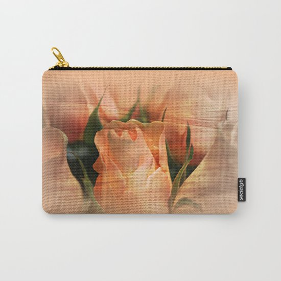 Hazy Apricot Beauty Rose Abstract Carry-All Pouch