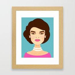 Jackie Onassis Framed Art Print