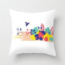 Nature Hand Throw Pillow