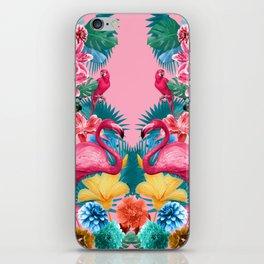 Flamingo and Tropical garden iPhone Skin
