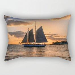 Sunset Sail and Plane Rectangular Pillow