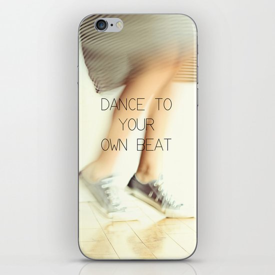 Dance to your own beat iPhone & iPod Skin
