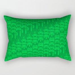 Video Game Controllers - Green Rectangular Pillow