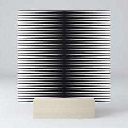 op art - horizontal triangles Mini Art Print