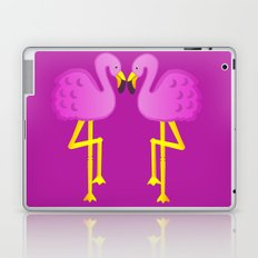 Double Flamingo Love Laptop & iPad Skin