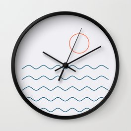 La Mer (Jour) Seascape Wall Clock