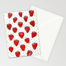 Strawberries Celebration Stationery Cards