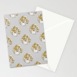Golden Moon Pattern Stationery Cards