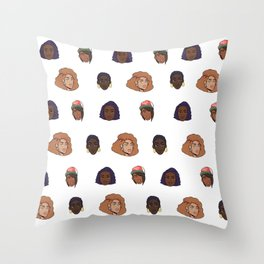 Black Girls Throw Pillow