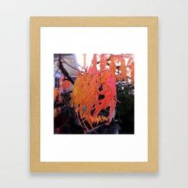 orange fingers Framed Art Print