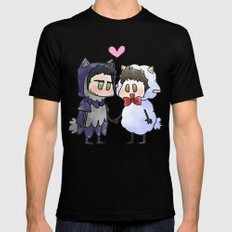 Sheep and Wolf Black SMALL Mens Fitted Tee