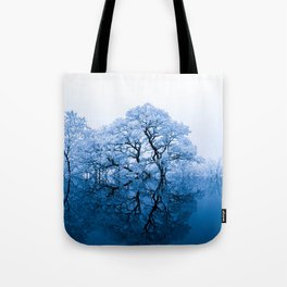 Blue Winter Trees Tote Bag