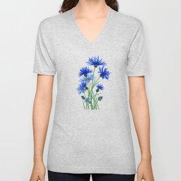 blue cornflower Unisex V-Neck