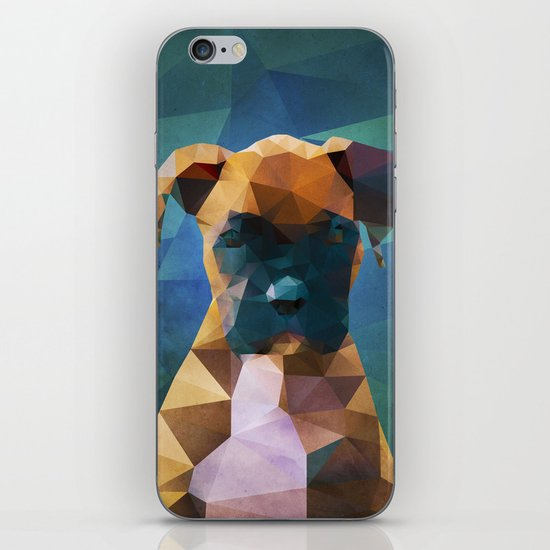The Boxer - Dog Portrait iPhone & iPod Skin