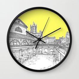 City Of Bath (Illuminating Yellow Version) Wall Clock