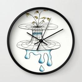 worm vase Wall Clock
