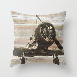 Old airplane 2 Throw Pillow