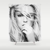 britney spears Shower Curtains featuring Britney Heart by eriicms