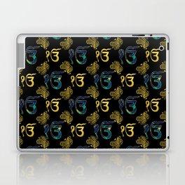 Luxury Ek Onkar / Ik Onkar  Pattern gold and marble Laptop & iPad Skin