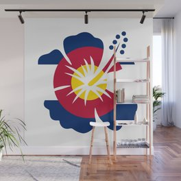 Colorado Hibiscus Flag Wall Mural