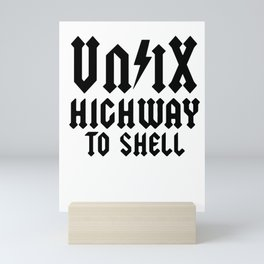 Linux Root SUDO Unix Shell Coder fun gift Mini Art Print