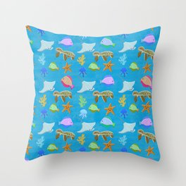 Sea Party Throw Pillow