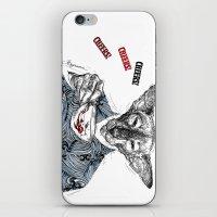 """pun iPhone & iPod Skins featuring """" Mr. Pun"""" by Mina Miryanova"""