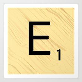 Scrabble E Decor, Scrabble Art, Large Scrabble Prints, Word Art, Accessories, Apparel, Home Decor Art Print