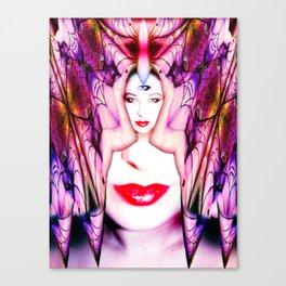 Crystal Bat Mask Canvas Print