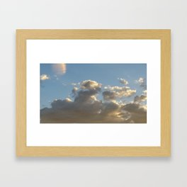 Majestic Horse in the clouds Framed Art Print