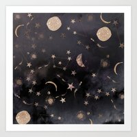 constellations Art Prints featuring Constellations  by Nikkistrange