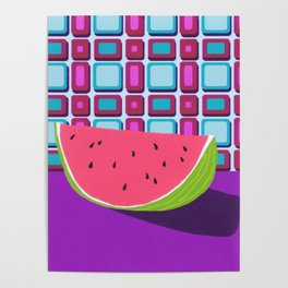 Fruit with Wallpaper (watermelon) Poster