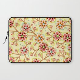 Candy Apple Blossom Yellow Laptop Sleeve