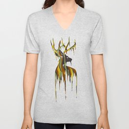 Painted Stag Unisex V-Neck