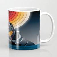 pacific rim Mugs featuring Pacific Rim by milanova