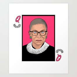 Queen of Dissent Art Print