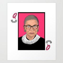 Queen of Dissent Art Print