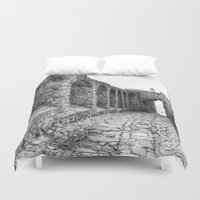 spain Duvet Covers featuring Castellar, Spain by Simon Ede Photography